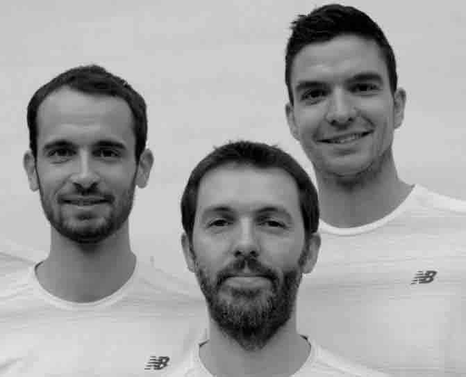 Fondateurs de kiné Boétie : Benjamin, Franck et Gildas